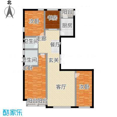 水乡9号185.08㎡9号楼4-18层1门01户型4室1厅2卫