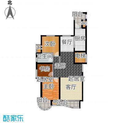 瑞仕尚城二期和平道115.00㎡舒朗三居户型3室2厅1卫