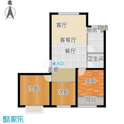 榕城世家104.66㎡B户型3室2厅1卫