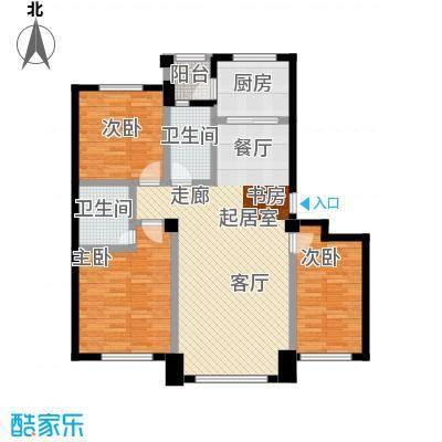 兆嘉・自由向105.15㎡多层三室两厅两卫户型3室3厅2卫S