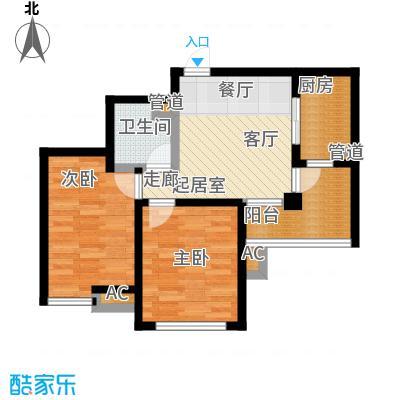 丹田医居社区户型2室1卫1厨