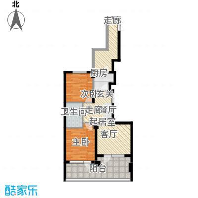 山海公园91.00㎡两房两厅一卫91平米户型图户型2室2厅1卫