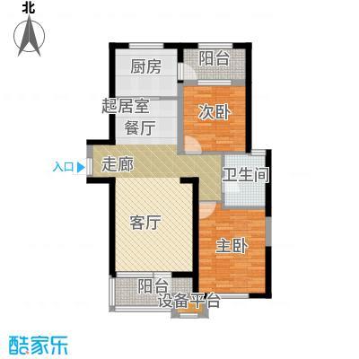 华润海中国100.00㎡两室两厅一卫户型2室2厅1卫