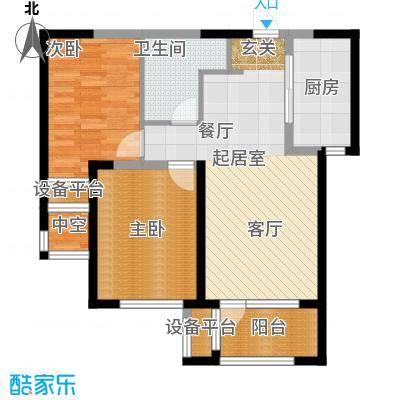 华润海中国86.00㎡两室两厅一卫户型2室2厅1卫