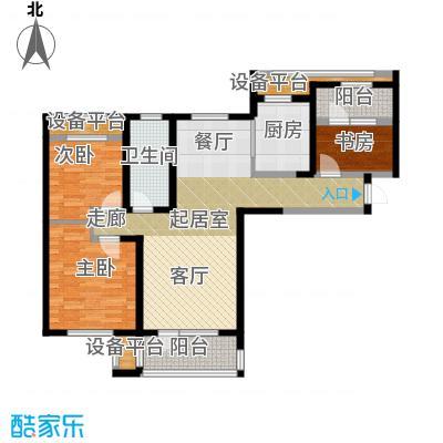 华润海中国117.00㎡三室两厅一卫户型3室2厅1卫