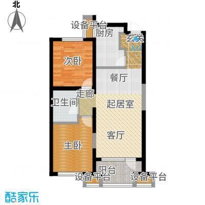 华润海中国96.00㎡两室两厅一卫户型2室2厅1卫