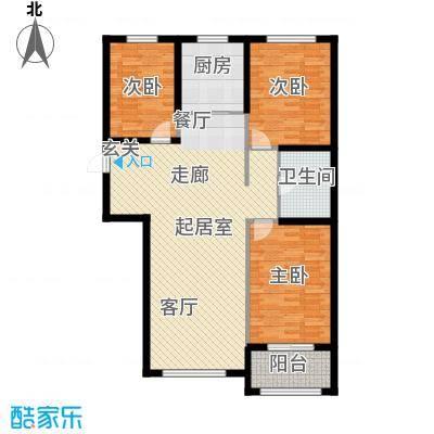紫金湾112.68㎡B户型3室2厅2卫