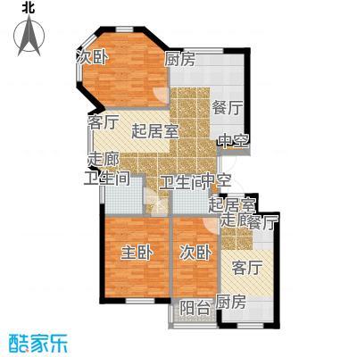 金湾又一城(一期)三室二厅一卫 面积100平方米户型