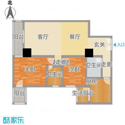 帝都广场・东方曼哈顿93.94㎡房型: 二房; 面积段: 93.94 -93.94 平方米;户型