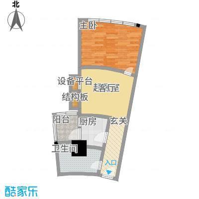 帝都广场・东方曼哈顿42.93㎡房型: 一房; 面积段: 42.93 -42.93 平方米;户型