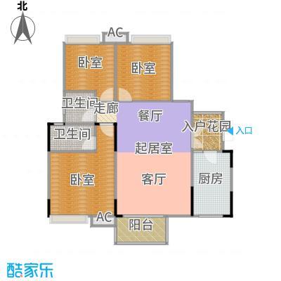 玮益上城华府112.62㎡上城华府一期五层户型2室2厅2卫1厨 112.62㎡户型2室2厅2卫