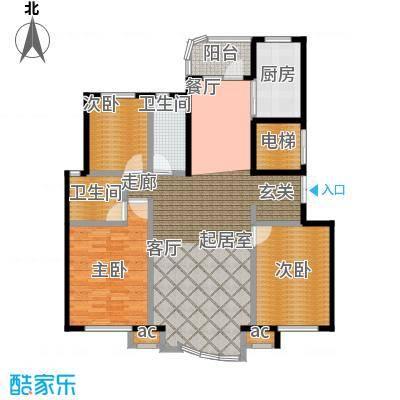 瑞仕尚城二期和平道122.00㎡A户型3室2厅2卫