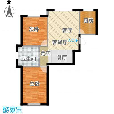 华溪龙城二期88.55㎡A1、A4户型两室两厅一卫户型2室2厅1卫