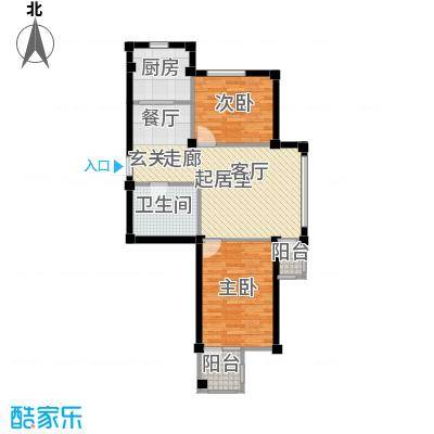 金润花园一期二房一厅一卫 面积75.94-79.34平方米户型