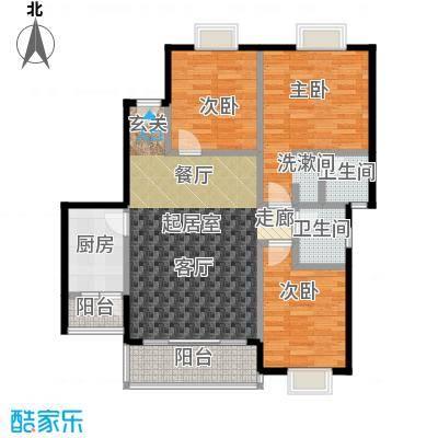 三元极第99.60㎡3房2厅2卫(R3)户型