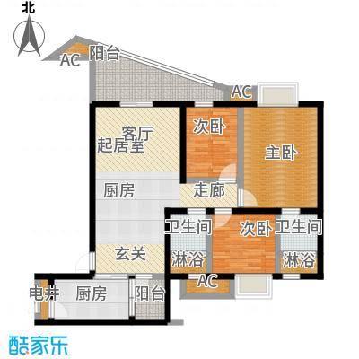 碧桂园翡翠城118.94㎡J367户型建面约118平米-T