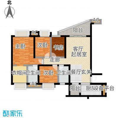 碧桂园翡翠城142.94㎡J367户型建面约142平米四室两厅双卫户型4室2厅2卫