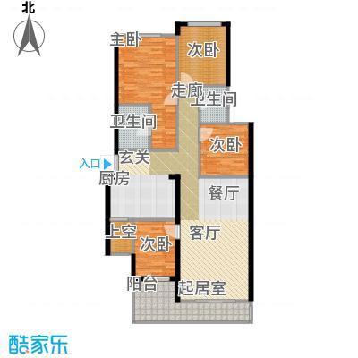 璧山金科中央公园城125.00㎡4.5.6幢 一层 四室两厅两卫 赠送面积43平米户型4室2厅2卫