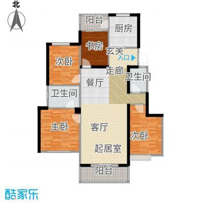 璧山金科中央公园城128.00㎡8.10幢 八层 四室两厅两卫 赠送面积5平米户型4室2厅2卫