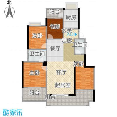 璧山金科中央公园城140.00㎡8.10幢 二层 四室两厅两卫 赠送面积16平米户型4室2厅2卫