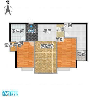 金广君悦山101.00㎡二室二厅一卫户型