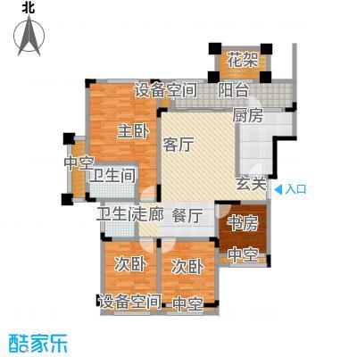 昕晖香缇漫城105.00㎡A4四室两厅双卫105平户型4室2厅2卫