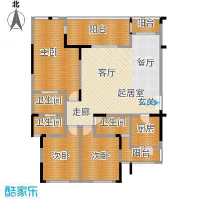 鸥鹏兰亭别院145.73㎡欧鹏兰亭别院 C3 4室2厅2卫1厨145.73㎡户型