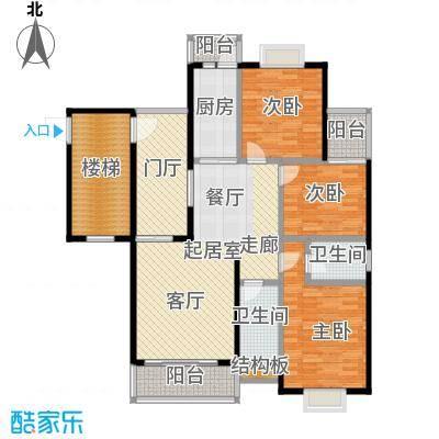 欧亚西城国际115.13㎡C1户型3室2厅2卫