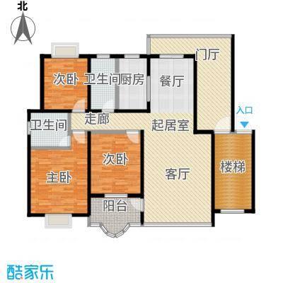 欧亚西城国际119.77㎡E1户型3室2厅2卫