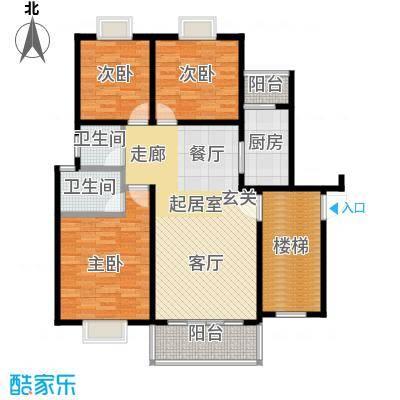 欧亚西城国际107.44㎡F1户型3室2厅2卫