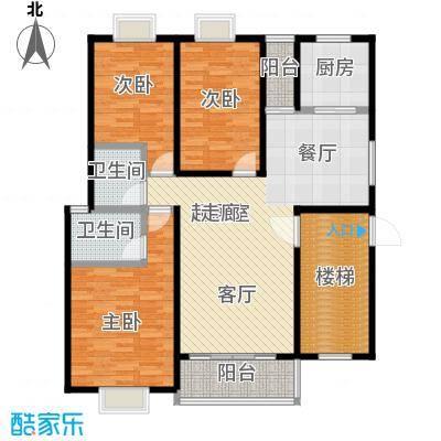 欧亚西城国际113.01㎡C2户型3室2厅2卫