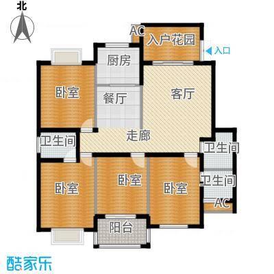盛祥现代城151.41㎡17#AB户型4房2厅3卫户型4室2厅3卫