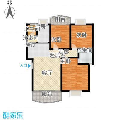时代名城125.99㎡16#C户型3室2厅2卫