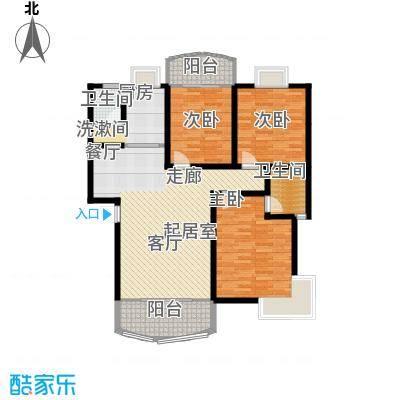 时代名城124.78㎡16#C1户型3室2厅2卫