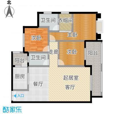 如意汇景1&4号楼A1双卫户型3室2卫1厨