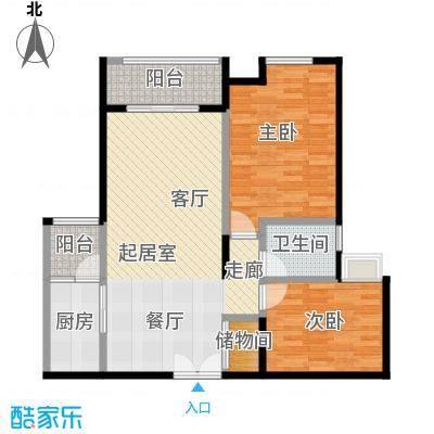 如意汇景1&4号楼A7单卫户型2室1卫1厨