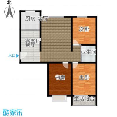 恋日晴园3室2厅1为 110m²户型3室2厅1卫