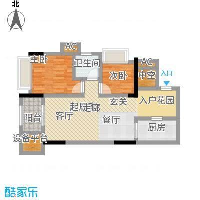 鸥鹏中央公园72.44㎡鸥鹏中央公园C3户型图户型-T