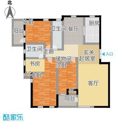 长城・都市阳光三期151.80㎡3室2厅2卫户型-T