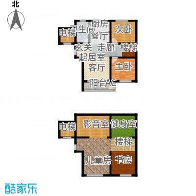 海湾壹号86.58㎡叠院户型2室2厅1卫