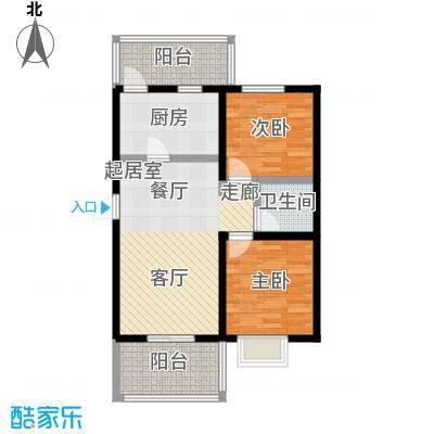 富东景苑户型2室1卫1厨