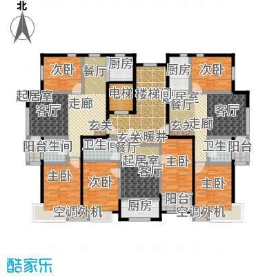 香林水岸户型6室3卫3厨
