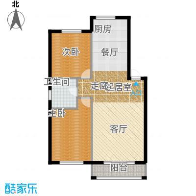 金湾又一城(一期)二室二厅一卫 面积91平方米户型