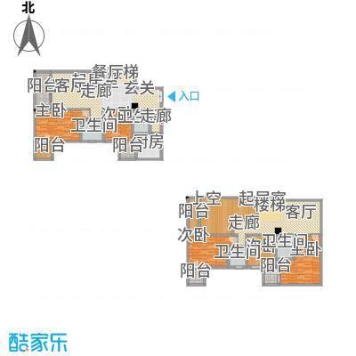 帝都广场・东方曼哈顿208.94㎡房型: 复式; 面积段: 208.94 -215.11 平方米;户型