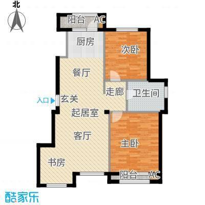 钰桥中央庭院QQ户型2室1卫