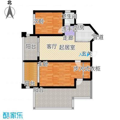 中央绿园96.65㎡1、9栋K-1户型2室2厅1卫