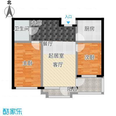 中体奥林匹克花园・蝶语湖c户型2室1卫1厨