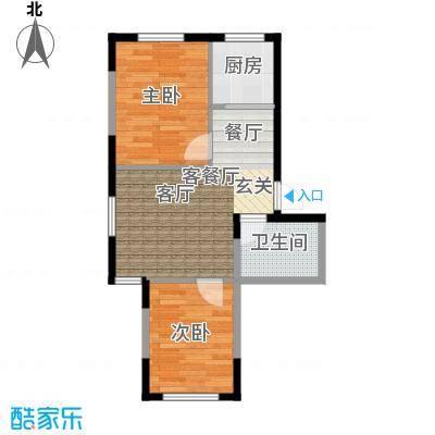 中凯梦之城中凯梦之城20号楼两室两厅一卫67.7㎡户型图户型2室2厅1卫