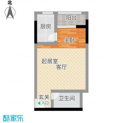 正升百老汇广场40.53㎡一房一卫-套内面积40.5平方米户型