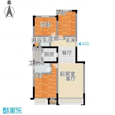 中海紫御江城中海・紫御江B1盛景三室两天两卫133平米户型S